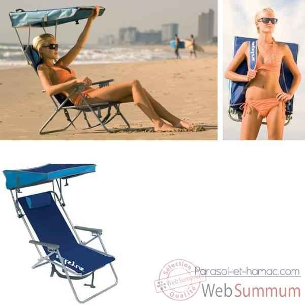 vid o chaise de plage retro avec canopy kelsyus nouveau colori bleu 80354 sur parasol et hamac. Black Bedroom Furniture Sets. Home Design Ideas