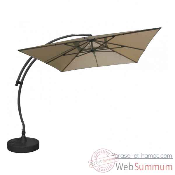 Kit parasol deporte carre taupe 320 olefin Easy Sun -10228613