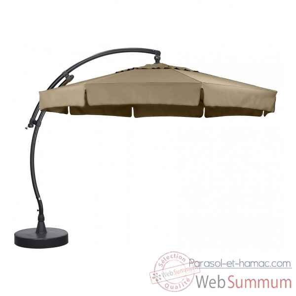 Kit parasol deporte rond taupe 350 olefin Easy Sun -10219280