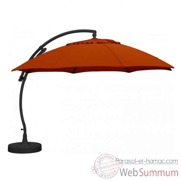 Kit parasol deporte rond terracotta xl375 olefin Easy Sun -10219300