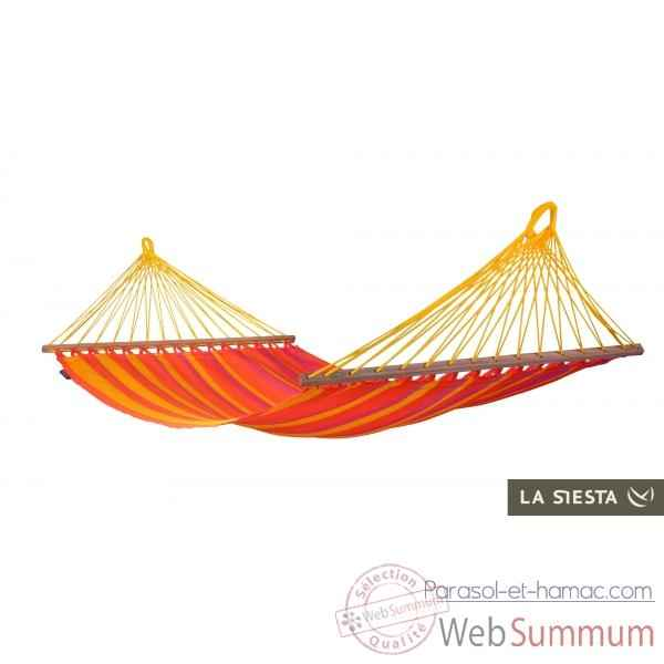 Hamac a barres simple colombien sonrisa mandarine (resistant aux intemperies) La Siesta -SNR11-5