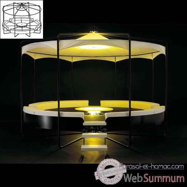 Video Meuble lounge BeHive Extremis avec structure toit -BHD