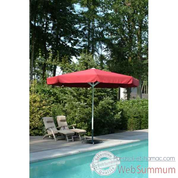 Parasol symo party rond diametre 3 m avec volant -party-r-300-av