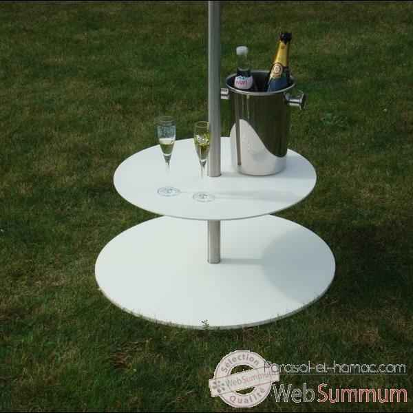 Video Table accessoire parasol Sywawa Bla Bla blanc -71919010